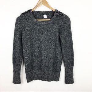 J. Crew Sweaters - J Crew Sweater Merino Wool Gray Black Soft Size XS